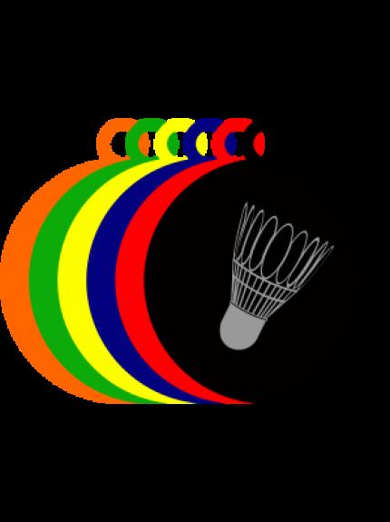 50mm Acrylic Badminton Shuttlecock Medal