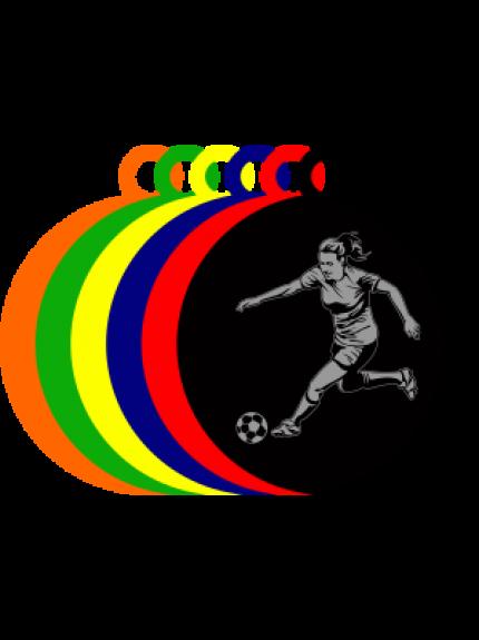 50mm Acrylic Female Footballer Medal