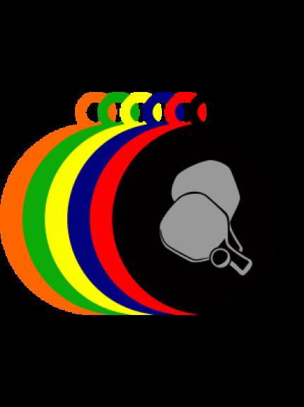 50mm Acrylic Table Tennis Medal