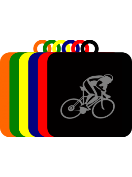 50mm Acrylic Cycling Square Medal