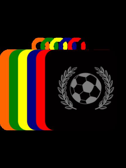 50mm Acrylic Football Square Medal