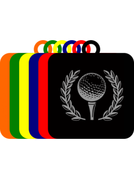 50mm Acrylic Golf Ball Square Medal