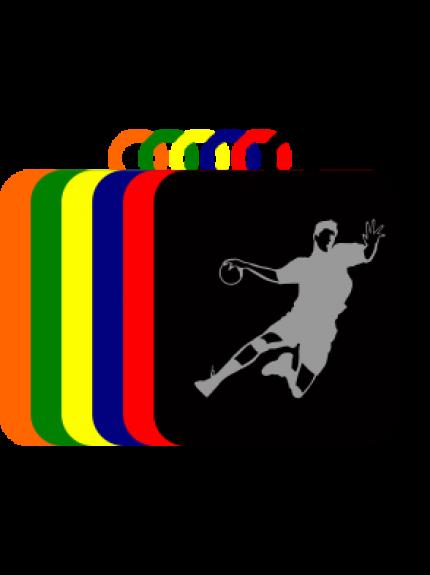 50mm Acrylic Handball Square Medal