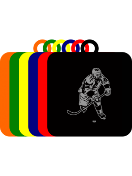 50mm Acrylic Ice Hockey Player Square Medal
