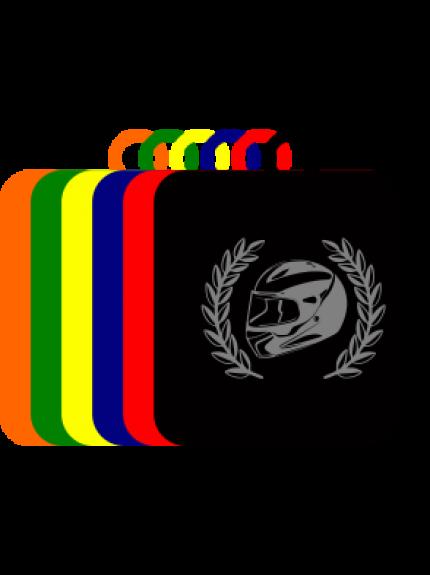 50mm Acrylic Motorsport Helmet Square Medal