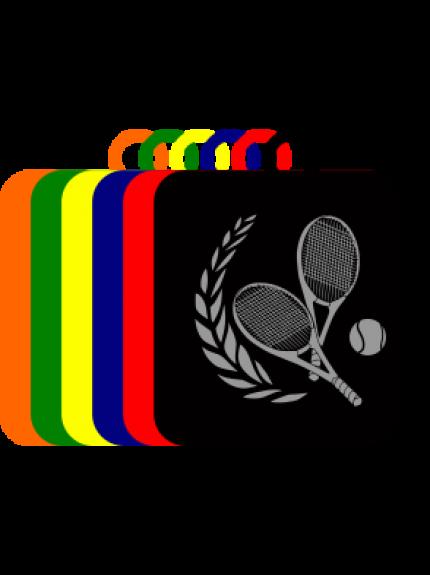 50mm Acrylic Tennis Square Medal