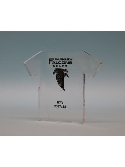 Freestanding Acrylic Football Shirt
