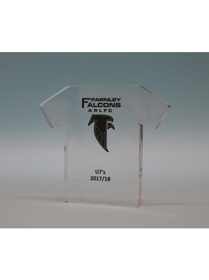Freestanding Acrylic Rugby Shirt
