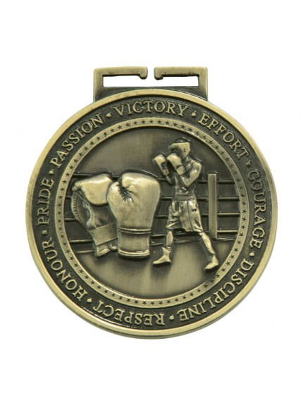 Olympia Boxing Medal Antique 70mm - Available in Gold, Silver and Bronze