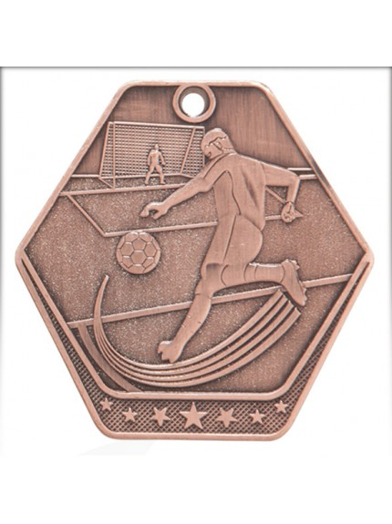 Trailblazer Football Medal Antique 60mm - Available in Gold, Silver and Bronze