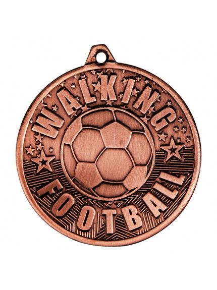 Cascade Walking Football Iron Medal 50mm - 3 Colours