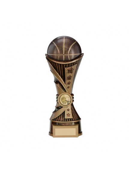All Stars Basketball Heavyweight Award Antique Bronze & Gold - Available in 2 Sizes