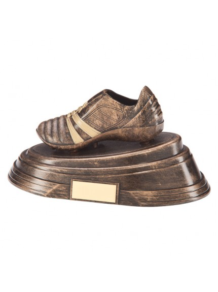 Agility Boot Football Award Antique Bronze & Gold 260x130mm