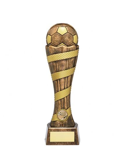 Mustang Football Heavyweight Award Antique Bronze & Gold