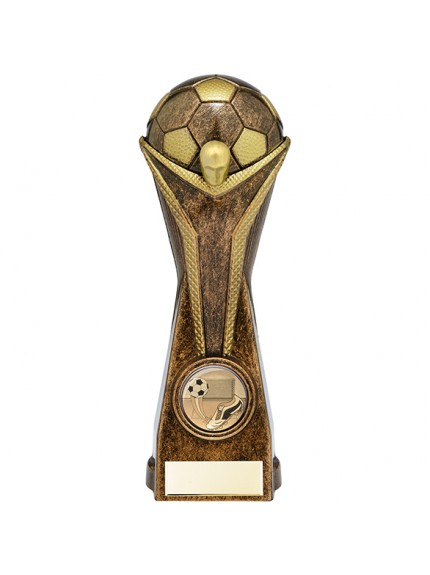 World Football Heavyweight Award Antique Bronze & Gold
