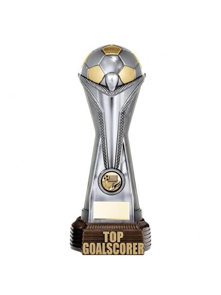 World Football Top Goalscorer Gunmetal & Gold 260mm