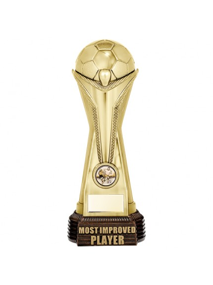 World Football Most Improved Player Gold 260mm