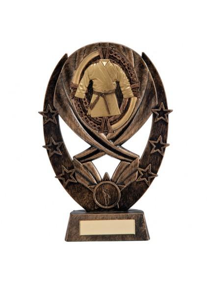 Maverick Karate Classic Award Antique Bronze & Gold 215mm