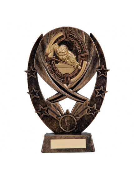 Maverick Snooker Classic Award Antique Bronze & Gold 215mm
