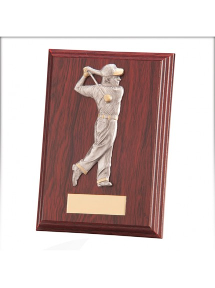 Galway Golf Male Plaque Mahogany 150mm