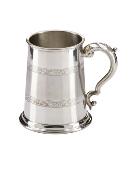 Celtic Band English Pewter Tankard 125mm 1pt