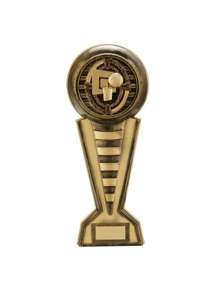 Maverick Basketball Colossus Award Antique Bronze & Gold 345mm