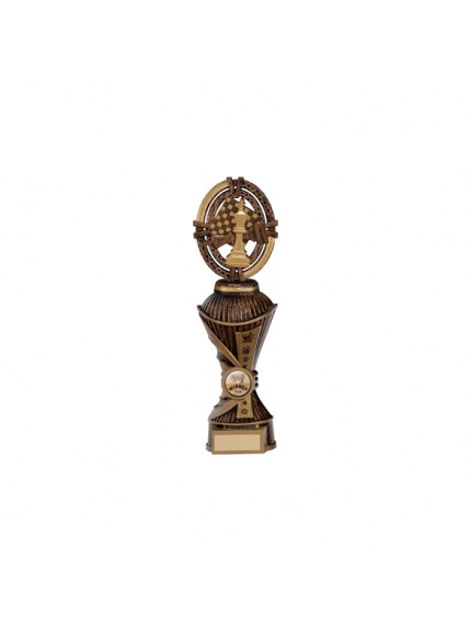 Maverick Chess Heavyweight Award Antique Bronze & Gold - Available in 4 Sizes