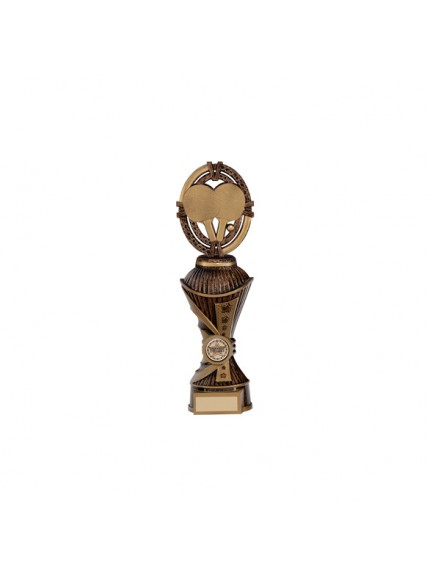 Maverick Table Tennis Heavyweight Award Antique Bronze & Gold - Available in 4 Sizes