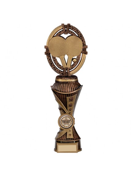 Maverick Table Tennis Heavyweight Award Antique Bronze & Gold - Available in 5 Sizes