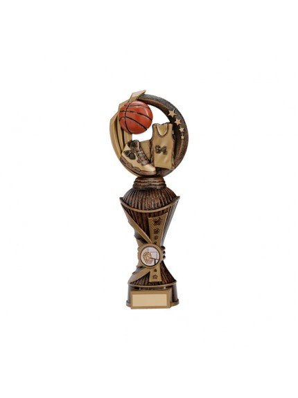 Renegade Basketball Heavyweight Award Antique Bronze & Gold - Available in 4 Sizes