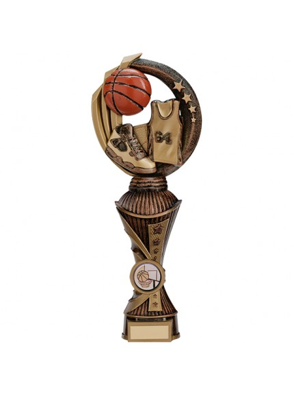 Renegade Basketball Heavyweight Award Antique Bronze & Gold - Available in 5 Sizes