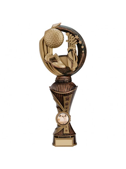 Renegade Golf Heavyweight Award Antique Bronze & Gold - Available in 5 Sizes