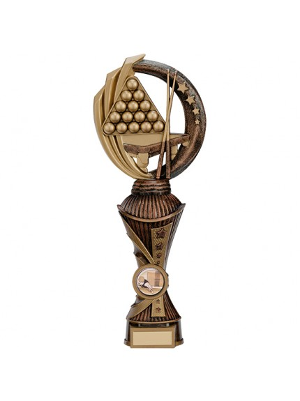 Renegade Snooker Heavyweight Award Antique Bronze & Gold - Available in 5 Sizes