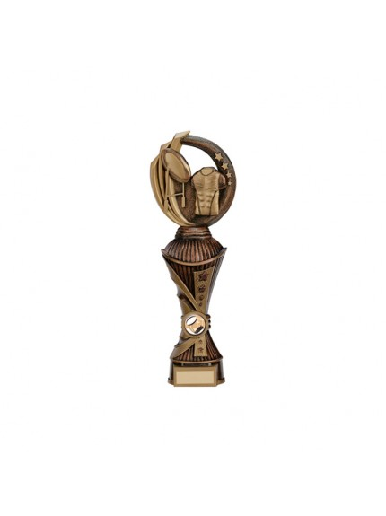 Renegade Rugby Heavyweight Award Antique Bronze & Gold - Available in 4 Sizes