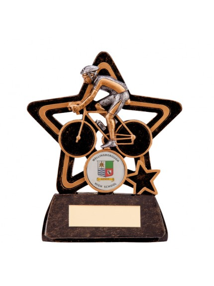 Little Star Cycling Plaque 105mm