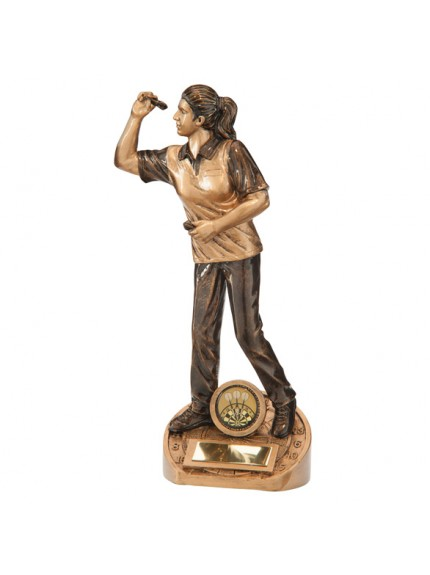 Bullseye Female Darts Award - Available in 3 Sizes