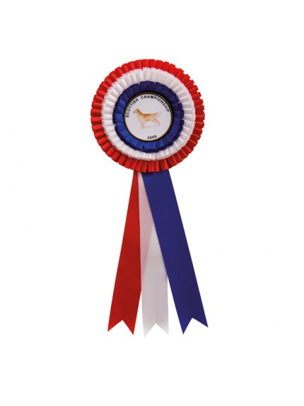 Red White & Blue Rosette 305mm