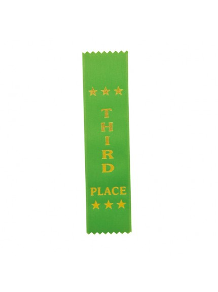 3rd Place Green Ribbon 200 x 50mm