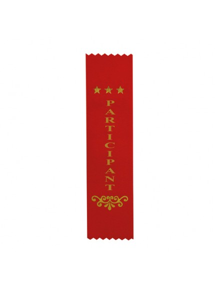 Participant Red Ribbon 200 x 50mm
