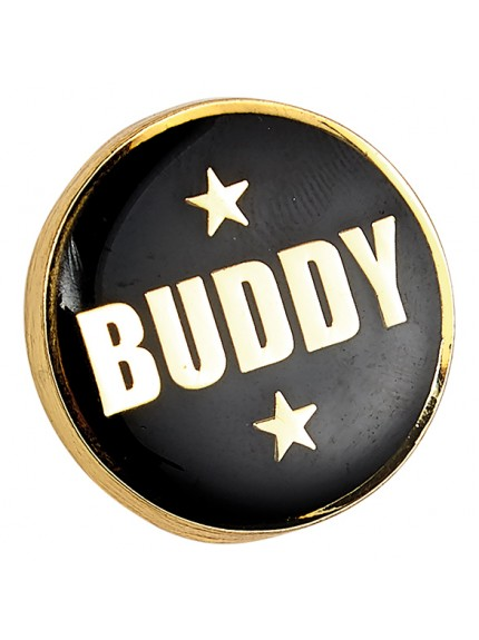 Heritage Buddy Pin Badge Black & Gold 20mm