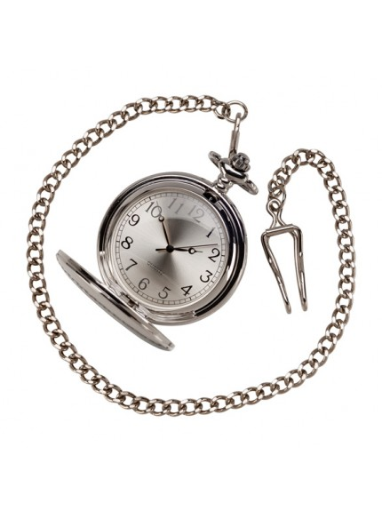 Timeless Pocket Watch Polished Steel 65mm