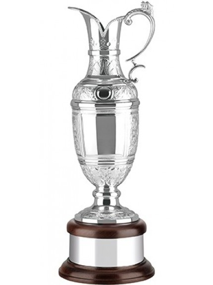 Hand Chased Silver Plated Golf Champions Claret Jug