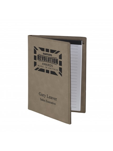 Leatherette Brown A5 Notepad and Document Holder