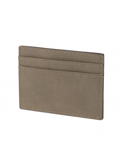 Leatherette Brown Credit Card Holder