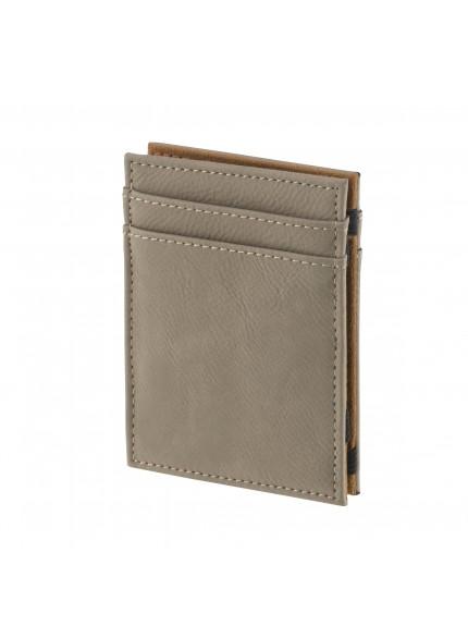 Leatherette Brown Credit Card Holder