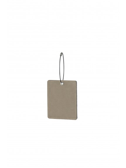 Leatherette Oblong Brown Bag Tag