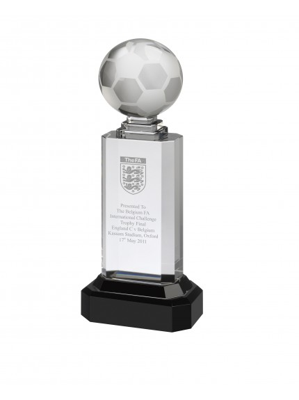 27.5cm Crystal Football Award