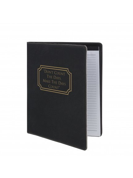 Leatherette Black A4 Note Pad and Document Holder