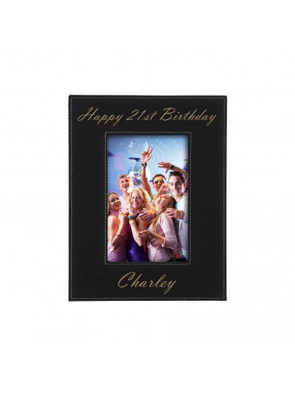 Leatherette Black Photoframe