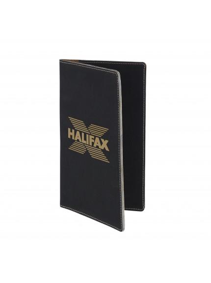 Leatherette Black Cheque Wallet